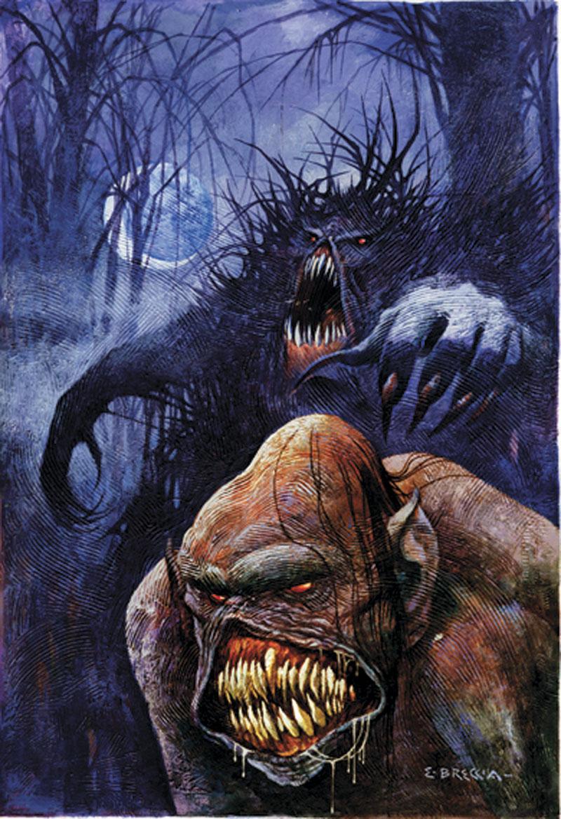 Swamp Thing. Ilustración de Enrique Breccia.