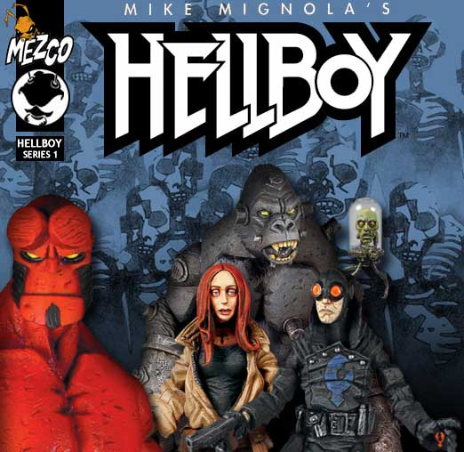 Hellboy Comic Book Series 1 Action Figures - Mezco - Action Figures Toys News ToyNewsI.com
