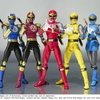 Crimson/Navy Thunder Ranger Set & Blue/Yellow Wind Ranger Set