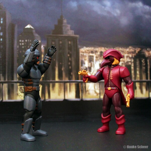 3D Printed Custom Super Hero Figures By Hauke