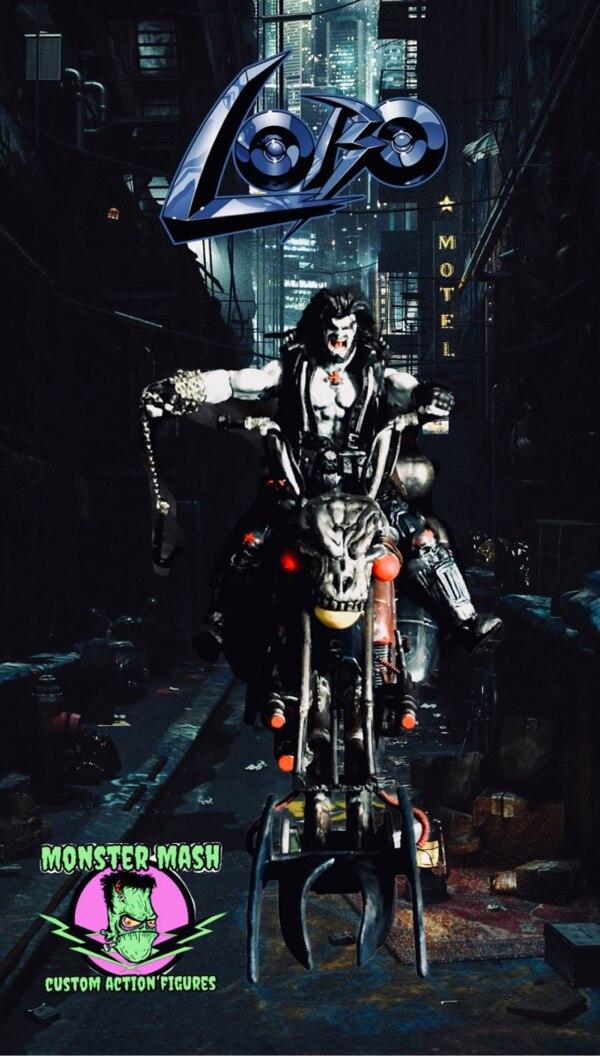 """3.75"""" DC Lobo With Space Bike Custom Figure By MonsterMash"""