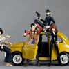Microman-style Jigen and Goemon from Lupin III Custom Figures By DirkMaximus