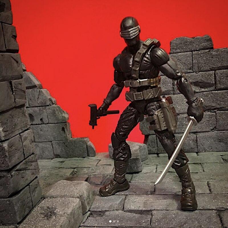 I Joe Snake Eyes custom figure 6 inch scale G