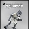TMNT NECA Style Mirage Comics Black & White Splinter Custom Figure By Monsterhjerne