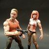 Leeloo & Korben figures from The Fifth Element Movie By Click Inc.