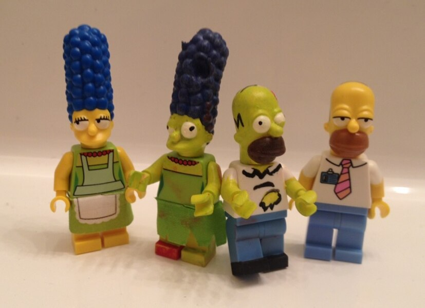 Simpsons Treehouse Of Horror Lego Minifigs By Derrico13