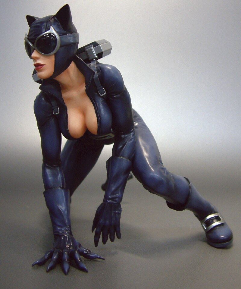 Perfect Brunette Carlotta In Her Sexy Catwoman Costume