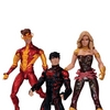 DC Collectibles New 52 Teen Titans Figures - Superboy, Kid Flash & Wonder Girl