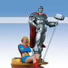 Superman Family Multi-Part Statue: Part 2: Supergirl And Steel