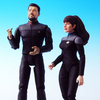 Star Trek Exclusive Nemesis Riker And Troi 2 pack