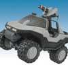 Halo Minimates Mini-Vehicles: Artic Warthog With Figure