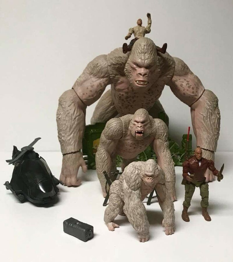 New Rampage The Movie Toys Spoted With The Rock Figures