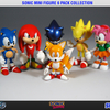 Classic Sonic Mini Figure 6 Pack Collection