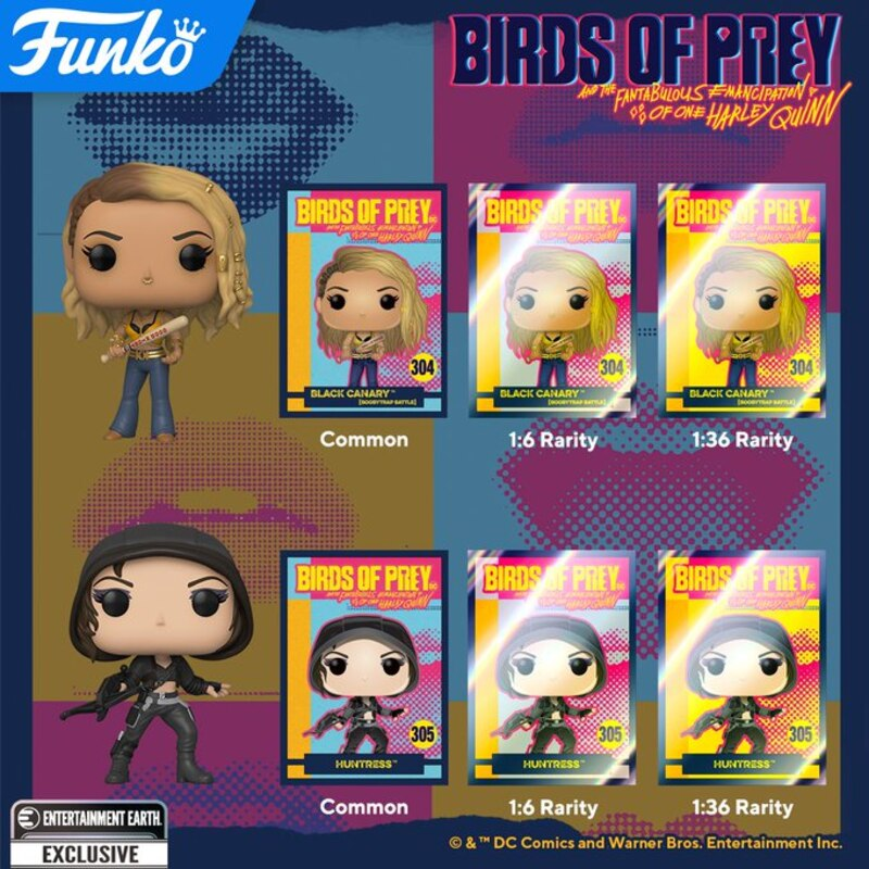Birds Of Prey Pop Vinyl Figures From Funko
