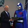 Cobra Commander Addresses The Masses After Receiveing The Key To The City Of Springfield
