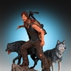 Walking Dead Daryl and the Wolves Web Exclusive Statue