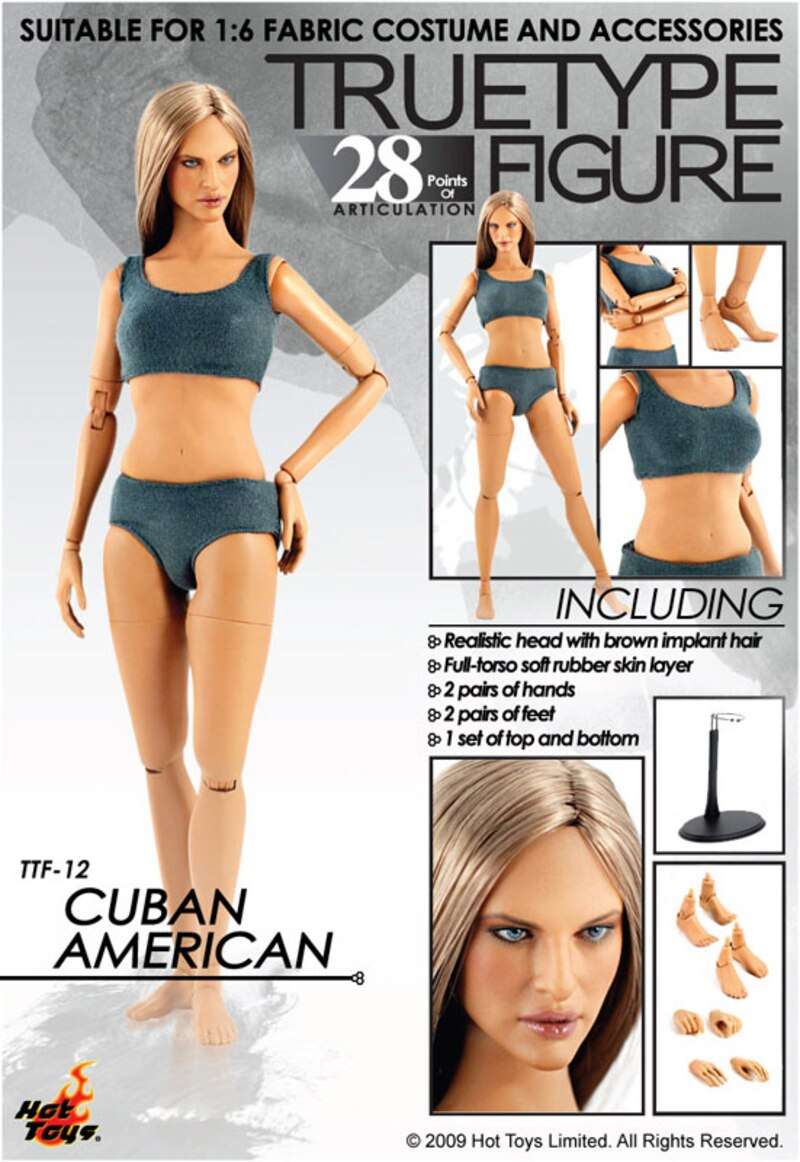 Hot Toys 1/6 Scale TrueType Female Figures