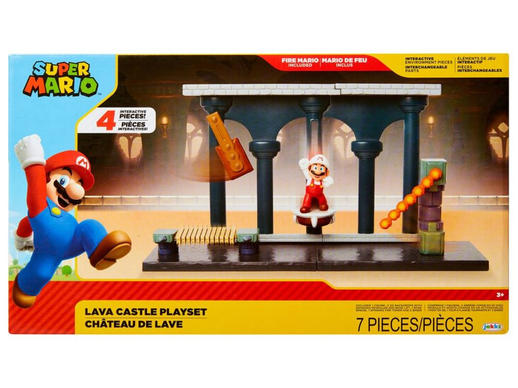 World Of Nintendo 2 50 Lava Castle And Deluxe Bowser Castle