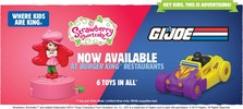 'G.I.Joe' And 'Strawberry Shortcake' Kids Meal Toys At Burger King