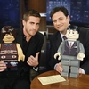 Jake Gyllenhaal Plays With Legos On Jimmy Kimmel