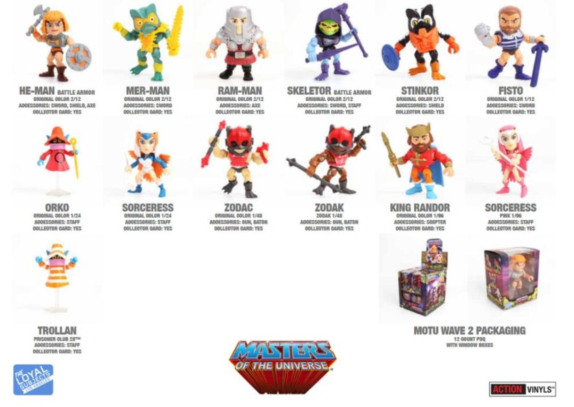 Masters Of The Universe Action Vinyls From Loyal Subjects