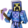 2016 SDCC Exclusive Minecraft Survival Mode Player One Figure With MOTU Skins