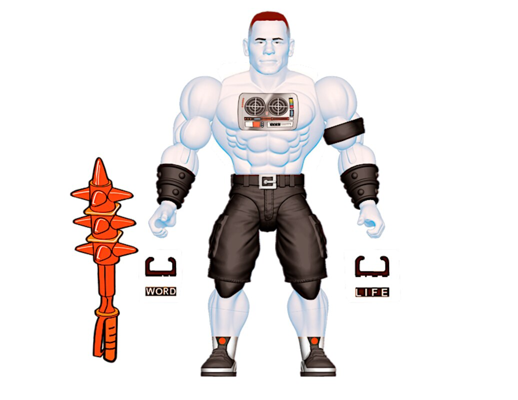 Faker John Cena Action Figures WWE Masters Of The Universe Roman Reigns