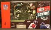 McFarlane Toys Show Off Updated Vick Vs. Dawkins 2-Pack