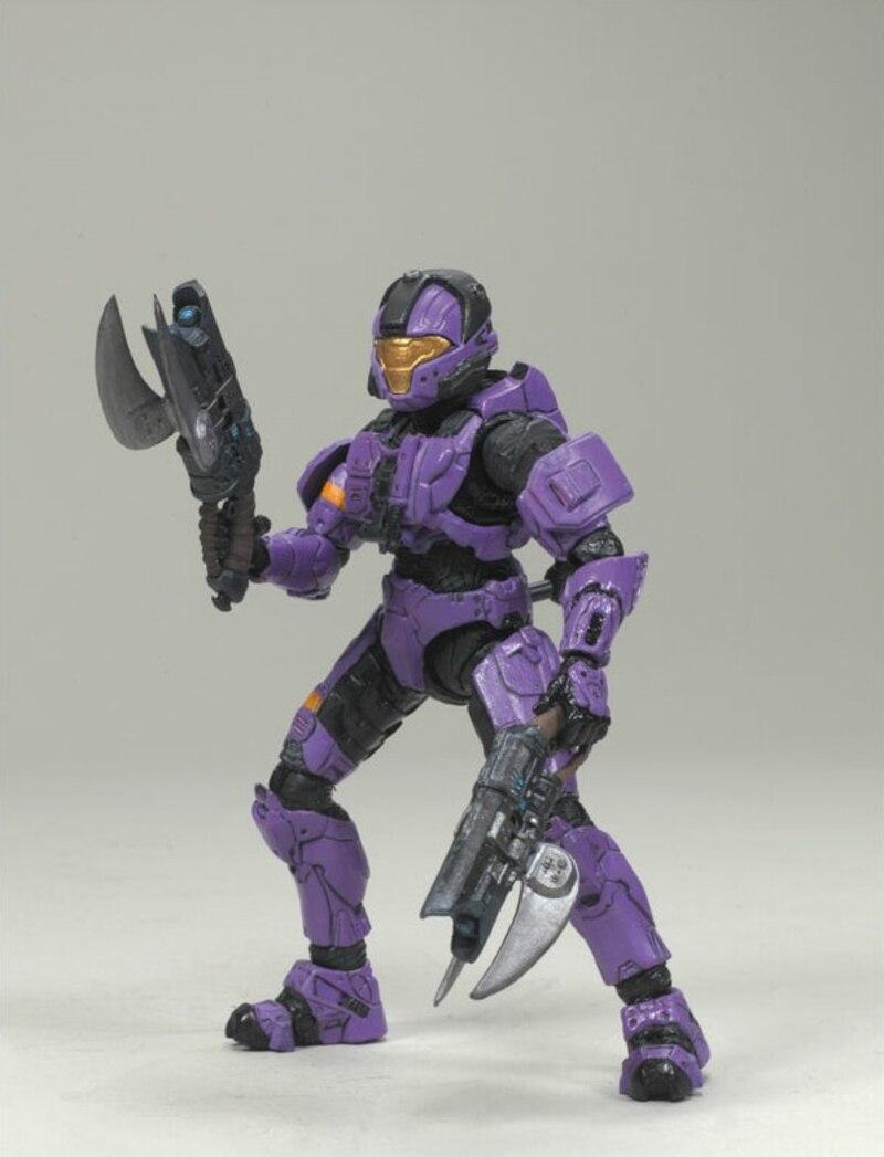 Halo 3 Series 1 Spartan Soldier Action Figure McFarlane 2008 Walmart Blue CQB