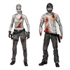 Previews Exclusive Bloody Black and White Walking Dead Rick and Andrea 2-Pack