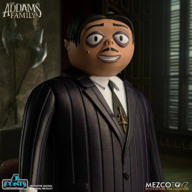 MEZCO The Addams Family New Cartoon Family Figure Set MOC $58