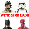 DASH adding shared collection feature utilizing world's largest action figure archive, collection management, ratings, values, buy and sell