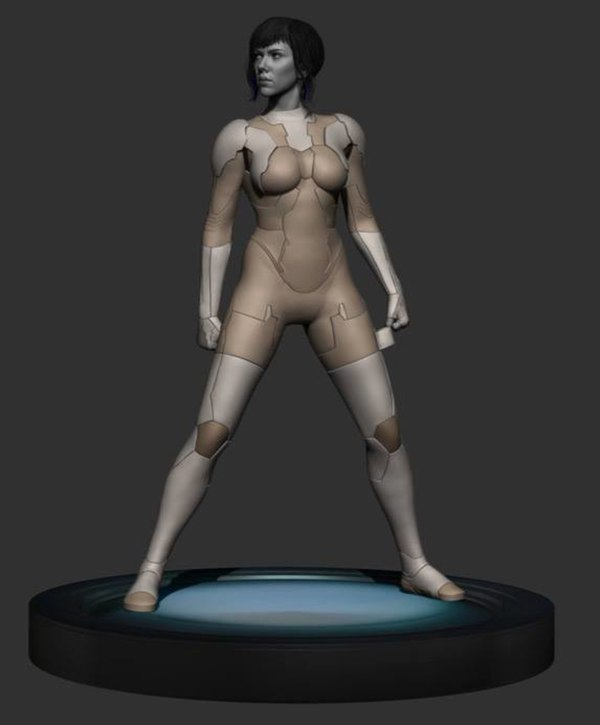 Statue Ghost In The Shell 1 6 Scale Movie Scarlett Johansson Statue From Mtime