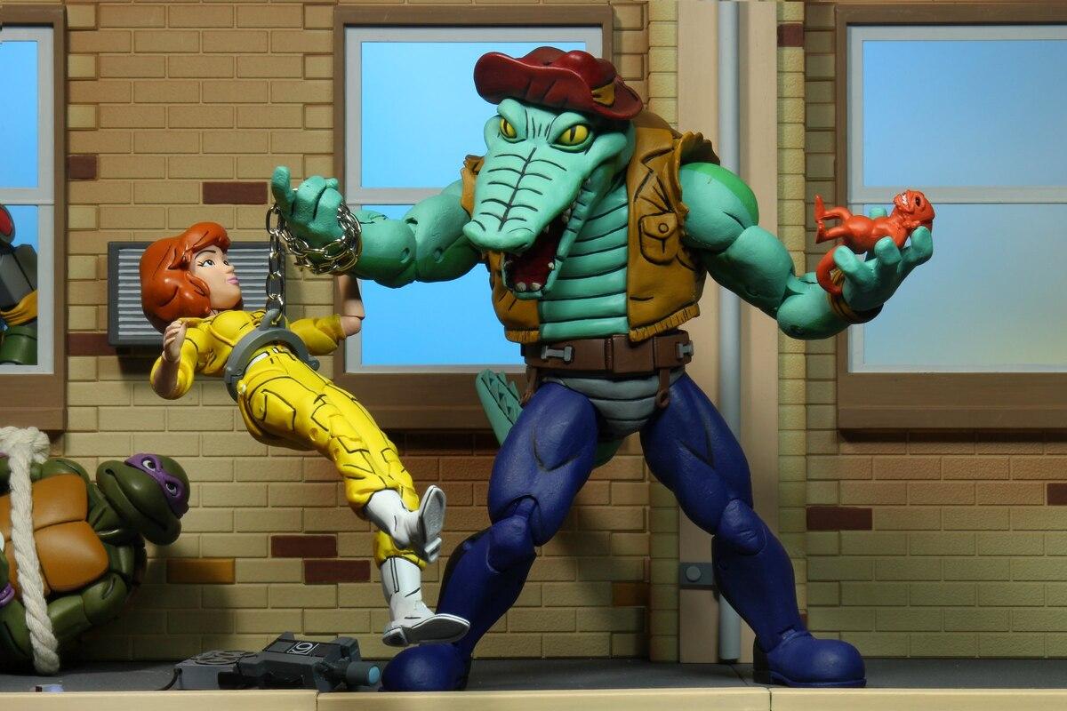 Slash und Leatherhead Action Figuren Teenage Mutant Ninja Turtles