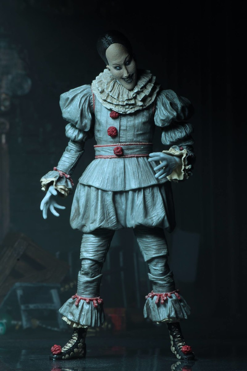 """New 1:12 Scale IT Ultimate Pennywise The Dancing Clown 2019 7/"""" Action Figure"""