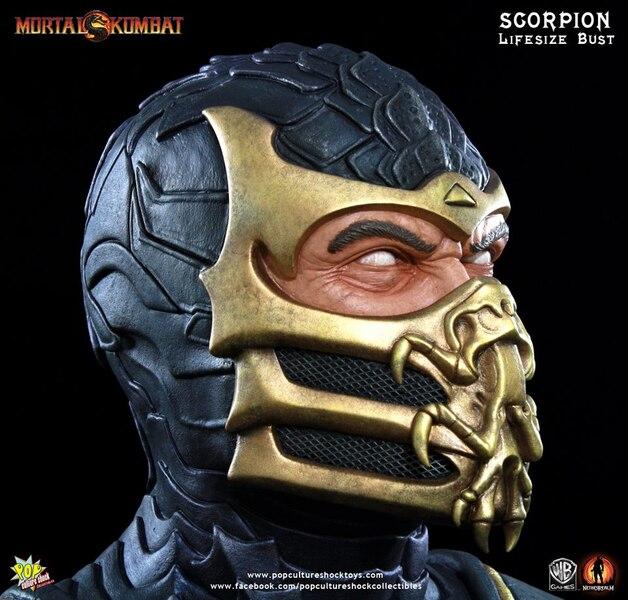 Life Size Mortal Kombat 9 Scorpion Bust