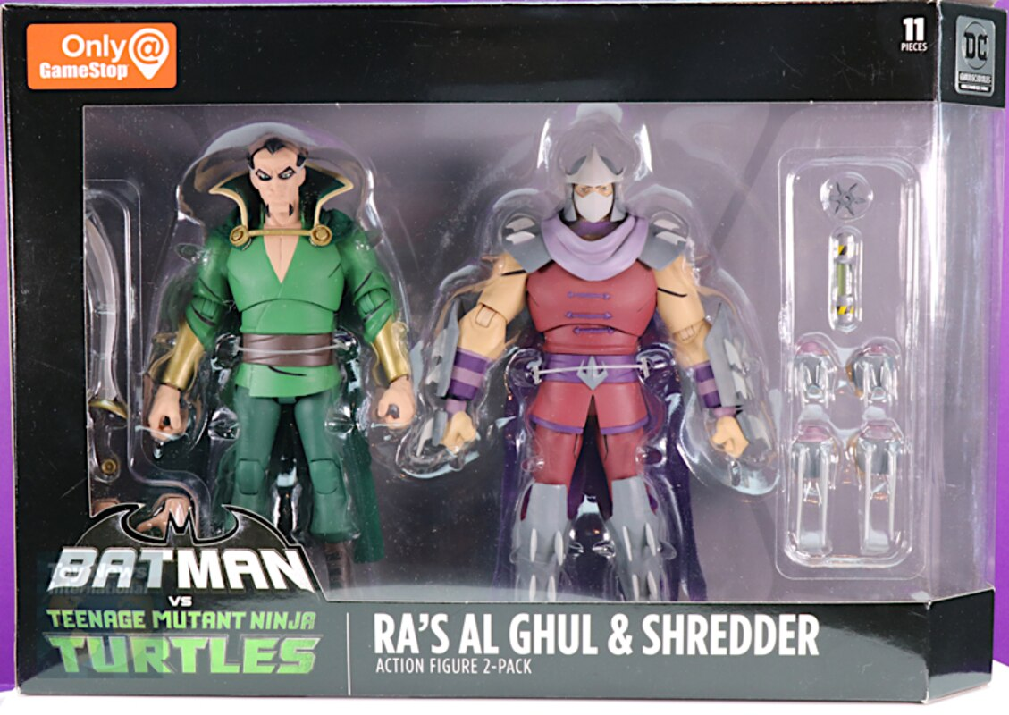 DC Collectibles Batman vs Leonardo /& Ra /'s Al Ghul vs Shredder