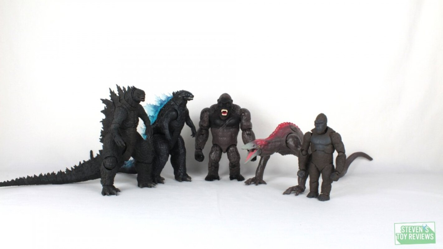 Playmates Godzilla Vs Kong 6 Godzillas Kong With Axe And Skullcrawler Video Reviews And Images