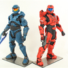 Halo 4 Blue Mark V and Red Mark VI ArtFX+ 1:10 Scale Statues Video Review & Images