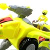 Imaginext Mighty Morphin Power Rangers Sabertooth Tiger Zord & Yellow Ranger Video Review & Images