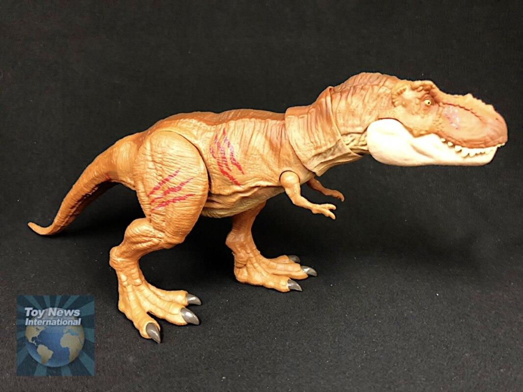Jurassic World Battle Damage Tyrannosaurus Rex Monolophosaurus