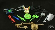 Masters of the Universe Classics End of Wars Weapons Pak Video Review & Images