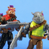 MegaBloks Teenage Mutant Ninja Turtles Bebop & Rocksteady Villains Pack Video Review & Images