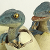 Rebor Velociraptor Triplets Sauropod and Theropod Dinosaur Nest Egg Statue Video Review & Images