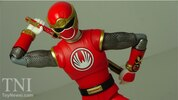 S.H. Figuarts Red Wind Ranger Power Rangers Ninja Storm Figure Video Review & Images