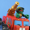 Teenage Mutant Ninja Turtles Half-Shell Heroes Fire Truck to Tank Video Review & Images