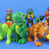 Half Shell Heroes Blast to the Past TMNT Mini Figures Video Review & Images