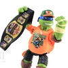 TMNT WWE Leonardo as John Cena Ninja Superstars Turtles Action Figure Video Review & Images
