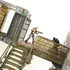 The Walking Dead Prison Catwalk Upper Cell and Lower Cell Building Sets Video Review & Images