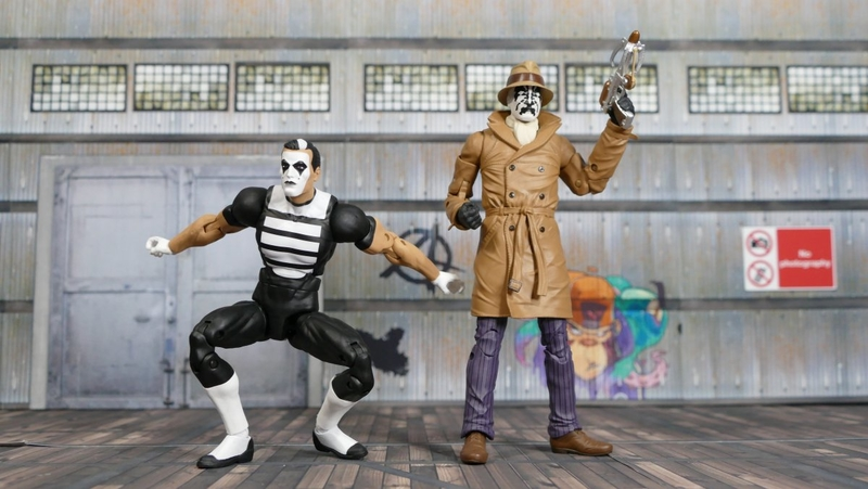 Watchmen Doomsday Clock Rorschach Mime 2 Pack Video Review